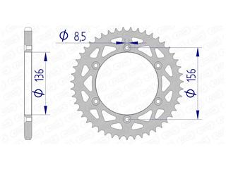 AFAM Rear Sprocket 51 Teeth Aluminium Ultra-Light 520 Pitch Type 15206N
