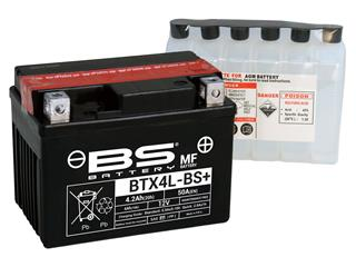 BS BATTERY Battery BTX4L-BS Maintenance Free with Acid Pack