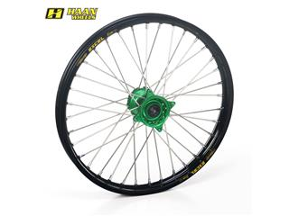 HAAN WHEELS Complete Front Wheel 21x1,60x36T Black Rim/Green Hub/Silver Spokes/Silver Spoke Nuts