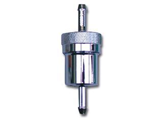 Filtre à essence BIHR rond alu anodisé démontable L=75mm
