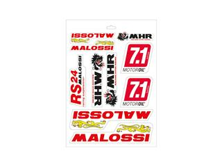Folha de autocolantes Malossi variados - 24,7x35 cm 33 9779