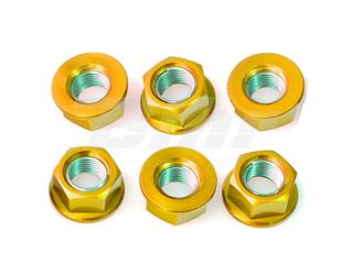 Tuerca de corona 12mm x 1,25 (6 pack) Aluminio oro Pro-Bolt SPN12G - 286ac125-53fa-4c69-81ea-a41f03967837