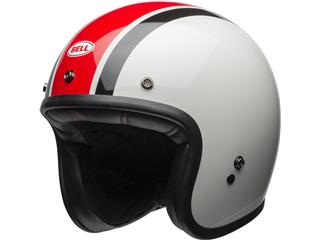 Casque BELL Custom 500 Ace Café Stadium Gloss Silver/Red/Black taille XS
