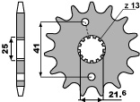 PBR 14-tooth sprocket for 520 Aprilia 250 RS chain
