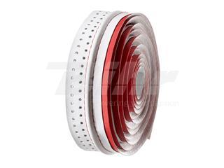Cinta de manillar VELO microfibra agujereada roja/blanca