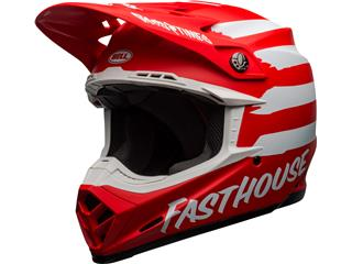Casque BELL Moto-9 Mips Signia Matte Red/White taille XL - 801000130371