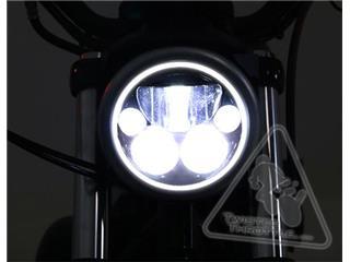 DENALI M5 LED Headlight Ø145mm Black Chrome - 29521a84-bbb5-4415-893c-e1832692773d