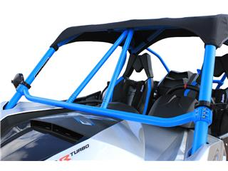 "DRAGONFIRE RacePace ""Flying V"" Front Bar Blue Can-Am Maverick"