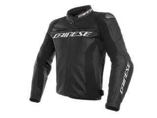 Leather Jacket Dainese Racing 3 Black Sz 62