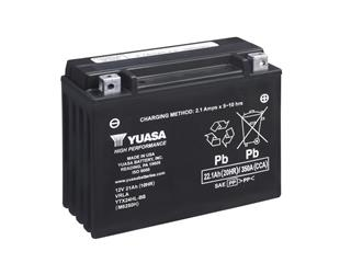 Batterie YUASA YTX24HL-BS sans entretien livrée avec pack acide - 32YTX24HLBS