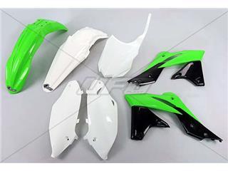 UFO Plastic Kit OEM Color (14-15) Green/White/Black Kawasaki KX-F250