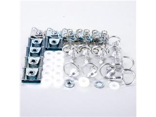 Kit of Pro-Bolt Ø17mm silver aluminium DZUS screws, half-circle loop