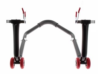 "BIHR Universal Dismountable Rear Stand Lift Black with ""V"" Adapters - 2b48c93c-5156-40af-b9b4-f4902bf799f9"