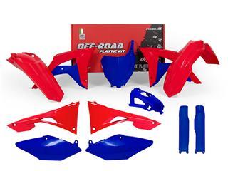 Kit plastique RACETECH bleu/rouge Honda CRF250/450R - 7805083
