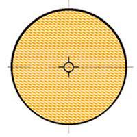 Reflex ambar redondo con adhesivo - 11752