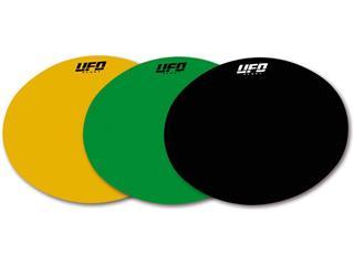 Planche adhésive ovale UFO noir - 78080120