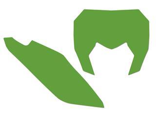 Fonds de plaque BLACKBIRD vert Sherco SE/SE-F - 78102375