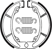Machoires de frein TECNIUM BA047 organique