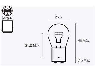 Ampoule V PARTS S25 12V/21/5W culot BAY15D 10pcs - 320083