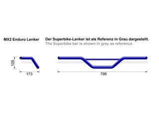 Guidon LSL MX2 Ø22mm acier noir - 2cceac92-d655-4af2-96c9-255b1012b121