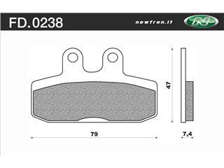 Plaquettes de frein NEWFREN FD0238BE organique - 3802381