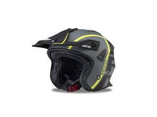 UFO Sheratan Helm Matt Black/Neon Yellow Größe XL
