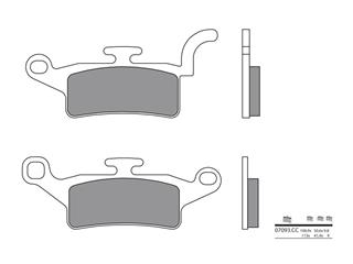 BREMBO Brake Pads 07093CC Carbon Ceramic