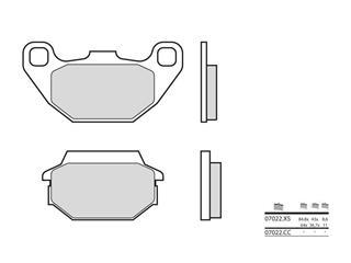 Plaquettes de frein BREMBO 07022CC carbone céramique