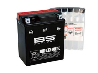 BS BATTERY Battery BTX7L-BS Maintenance Free with Acid Pack