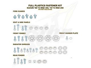 Kit tornillería de plástica Bolt 08-13 RMZ450 10-13 RMZ250