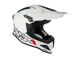 JUST1 J12 Helmet Solid White Size M - JU001014