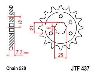Pignon JT SPROCKETS 16 dents acier pas 520 type 437 Suzuki - 46043716