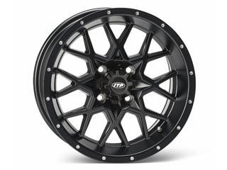 ITP HURRICANE 14x7 4x110 2+5 Aluminum Utility Wheel Matt Black