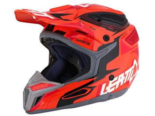 Casque LEATT GPX 5.5 Composite orange/noir/rouge T.L - 433449L
