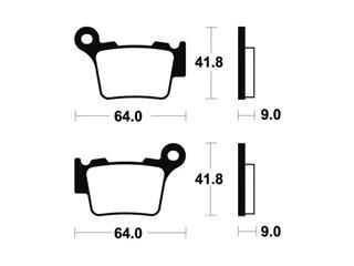 Plaquettes de frein TECNIUM MA291 organique - 3032bc5c-cea4-48b2-a3be-4daefa36400d
