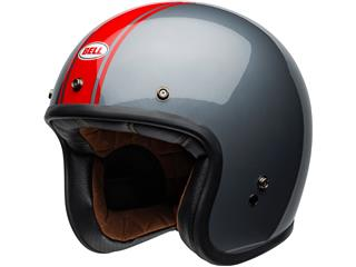 Casque BELL Custom 500 DLX Rally Gloss Gray/Red taille XL