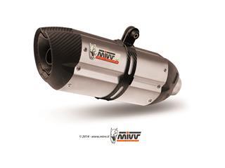 Silencieux MIVV Suono inox/casquette carbone Aprilia - MVA008L7