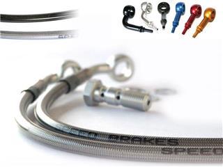 Durites de frein avant Speedbrakes carbone/raccord bleu Triumph Scrambler 865 - 356225723