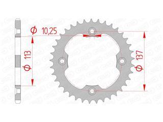 Couronne AFAM 37 dents acier standard pas 520 type 14412