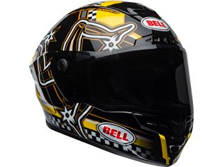 BELL Star DLX Mips Helmet Isle of Man 2020 Gloss Black/Yellow Size S - 30eec519-075f-433e-9ad7-4887f1431869