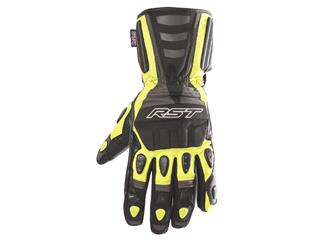 RST Storm Waterproof CE Gloves Leather/Textile Flo Yellow Size M/09