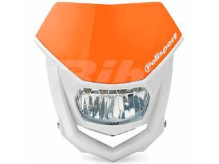Careta Halo LED homologada Polisport blanco/naranja 8667100004