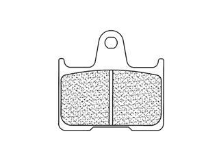 Plaquettes de frein CL BRAKES 2813RX3 métal fritté
