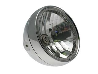 BIHR Classic Headlight Chromed Ø180x160mm universal