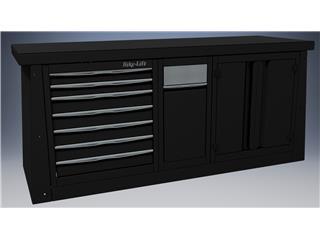 Meuble 2m BIKE LIFT 7 tiroirs/armoire/poubelle - 89080003