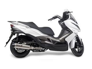 Echappement YASUNI Scooter 4 inox Look Titane/casquette noire Kymco Superdink 300