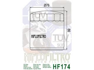 Filtre à huile HIFLOFILTRO HF174C chrome Harley Davidson - 32a1fd34-a268-4aa4-9791-c5e0a47e7a12
