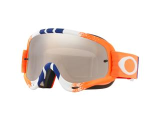 OAKLEY O Frame MX Goggle Pinned Race Orange/Blue Black Iridium Lens