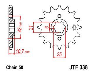 Pignon JT SPROCKETS 17 dents acier pas 530 type 338 - 46033817