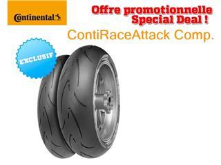 Train de pneus Racing CONTINENTAL ContiRaceAttack Comp. (120/70 ZR 17 Soft + 160/60 ZR 17 Medium)